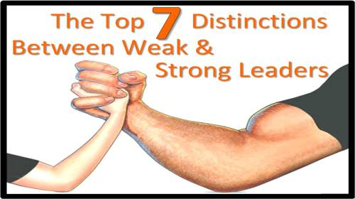 top 7 distinctions weak strong - adrian parker